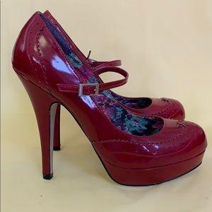 Steve Madden Red Mary Jane Stilettos
